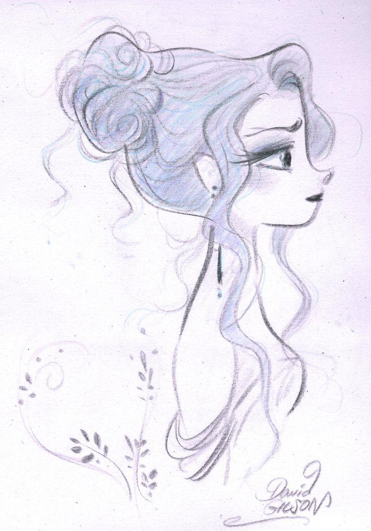 Drawn profile sketch De Soupir princekido ideas 25+