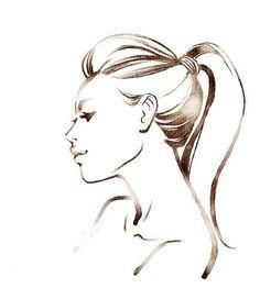 Drawn profile sketch Sketch Sketched ❤  featuring