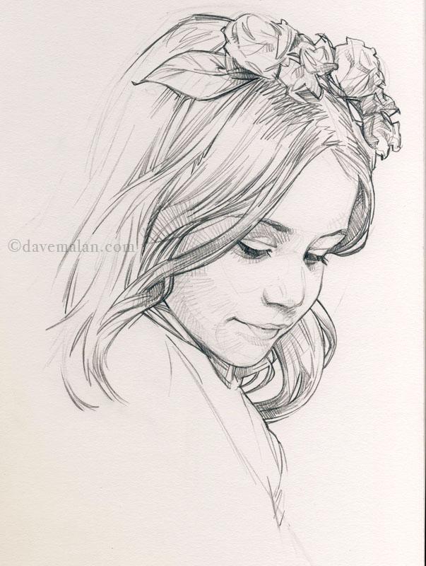 Drawn profile sketch Profile sketch drawing}  figurative