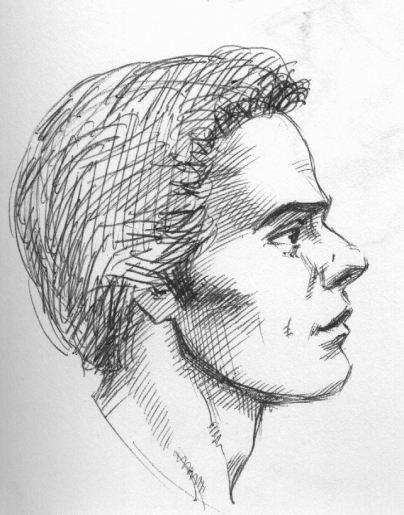 Drawn profile sketch Ink profile profile portraits profile