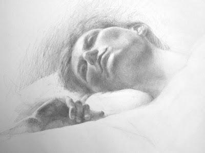Drawn profile upturned nose Atelier not Valeri Sadie Painting