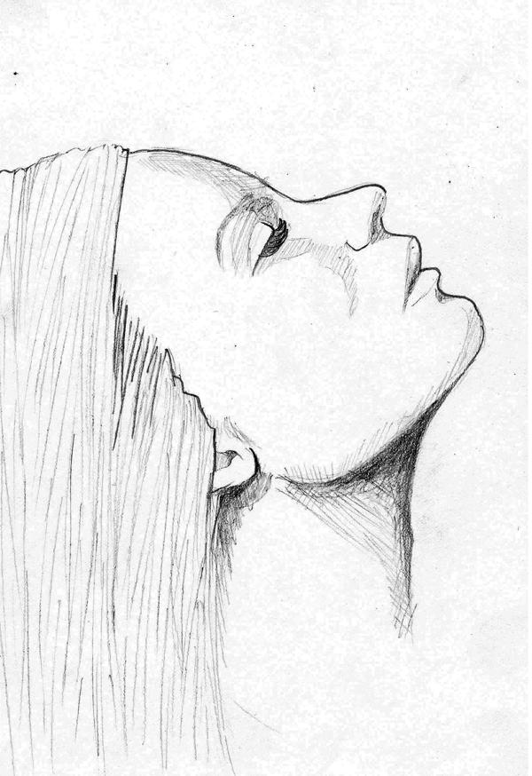 Drawn profile woman profile Sketch Thong REFERENCES DESIGN Woman