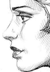 Drawn profile woman profile Profile draw Sad to girl
