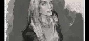 Drawn profile woman's Profile Drawing « a 3/4