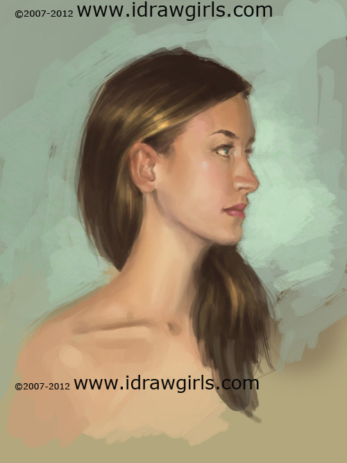 Drawn profile woman's Painting  painting woman view