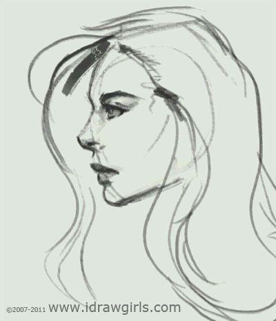 Drawn profile woman's Profile Art best to girl