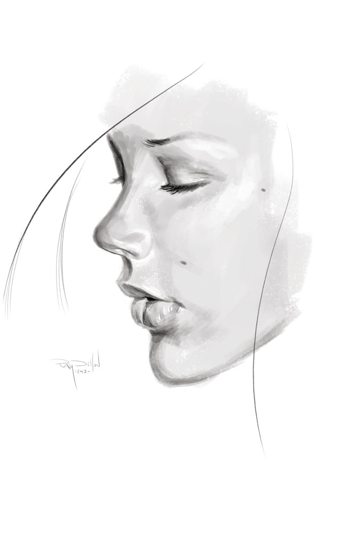 Drawn profile woman's Of God Forums Webbing Sketchbook