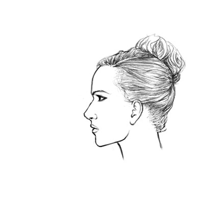 Drawn profile women's profile Face draw to How female