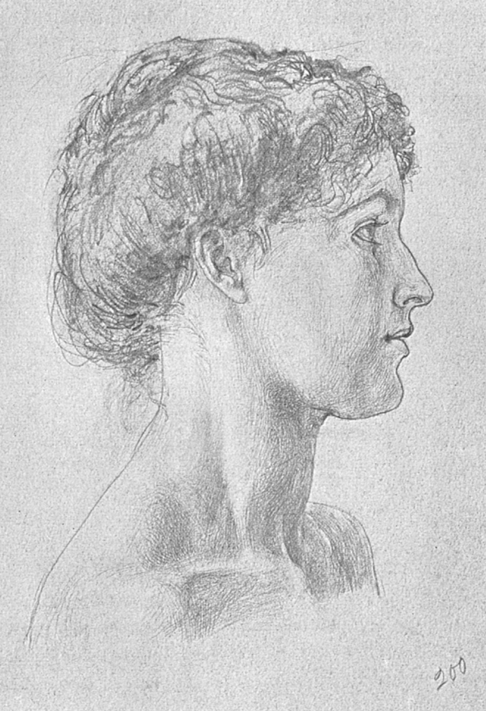 Drawn profile women's profile Neck woman of drawing her