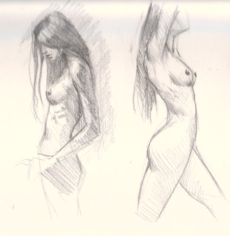 Drawn profile women's profile How side drawing figure Learn