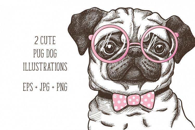 Drawn pug Fashionable example 2 Hala fashionable