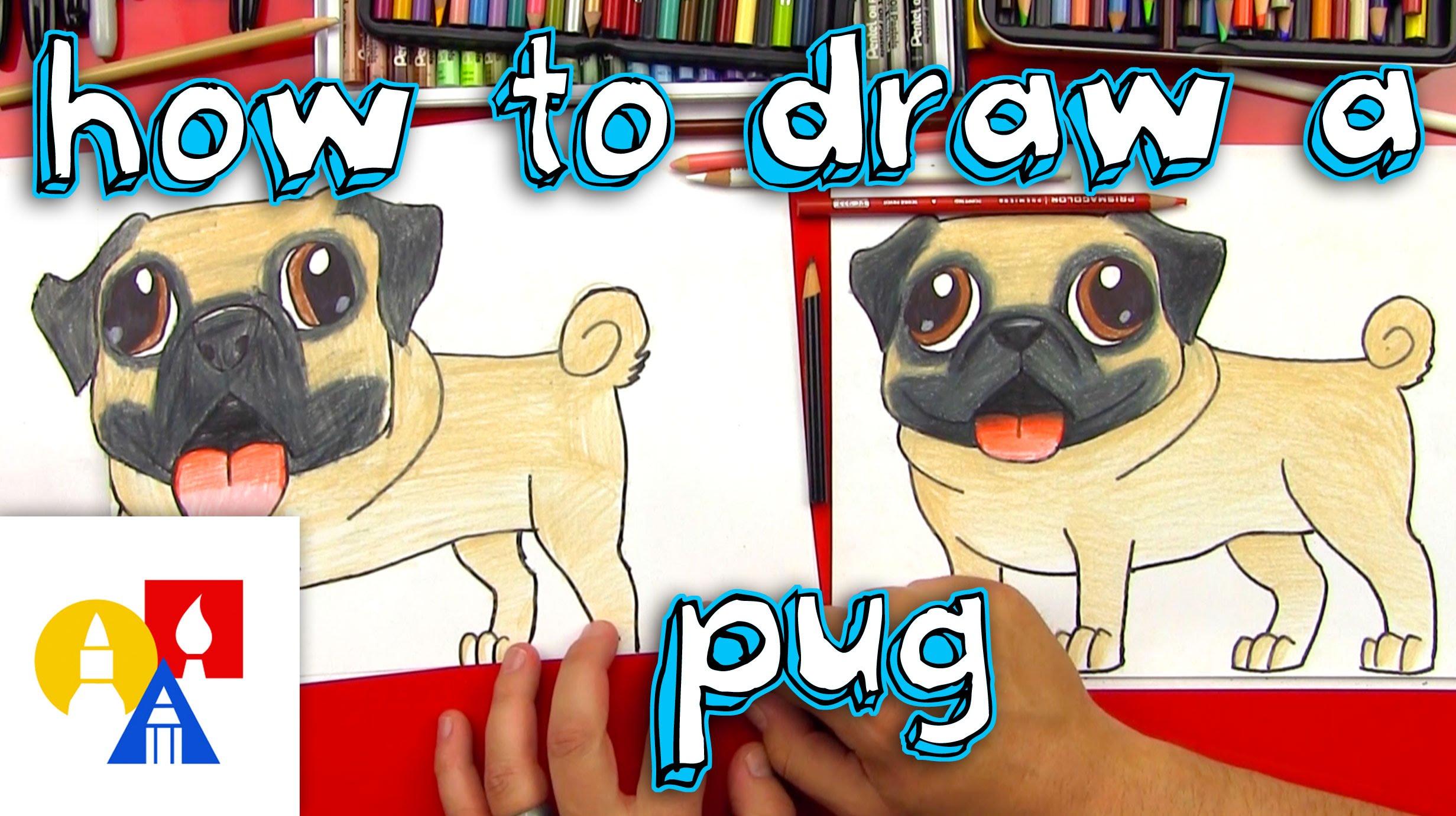 Drawn pug 8 bit Pug To  Draw How
