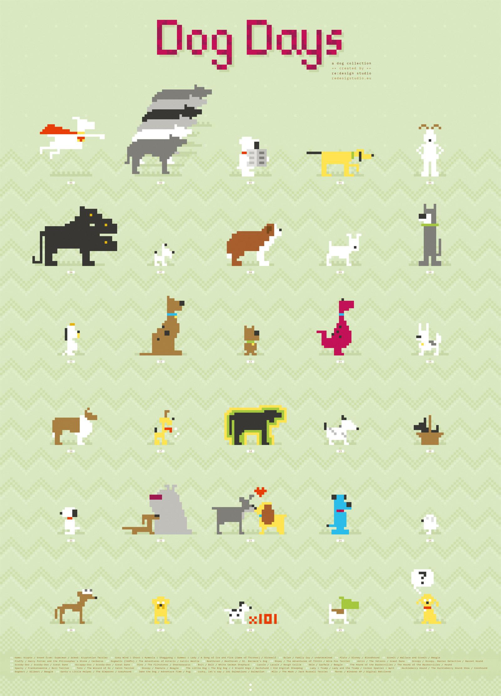 Drawn pug 8 bit 8 Animals dog zoeken Google