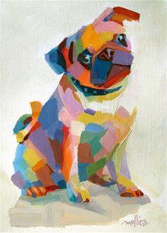 Drawn pug abstract Breed! Pug