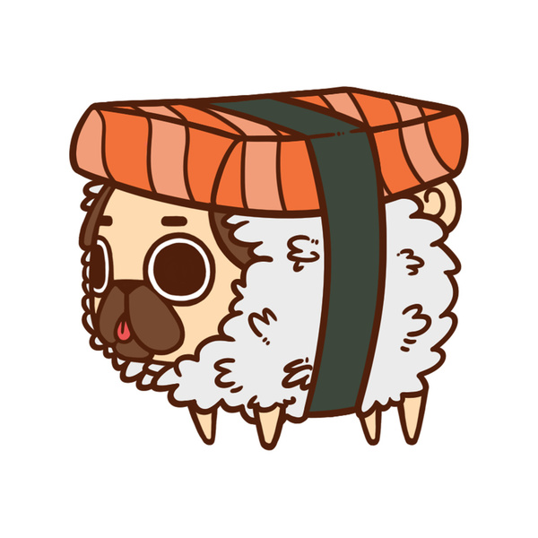 Drawn pug adorable Design design Character Character Pinterest