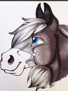 Drawn pug amazing horse #cutie An these by cute