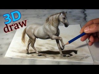 Drawn pug amazing horse Painting Speed Illusion a sweet