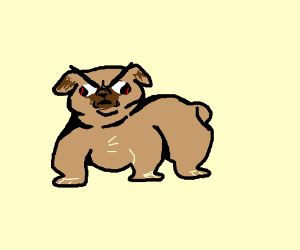 Drawn pug angry Angry very a (drawing pug