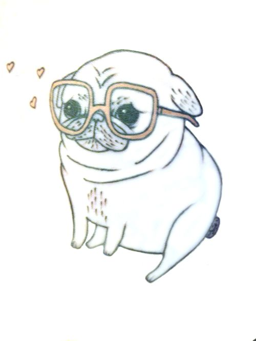 Drawn pug anime Pug Pinterest Pug Pug pug