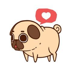 Drawn pug anime Google imagen fat  para