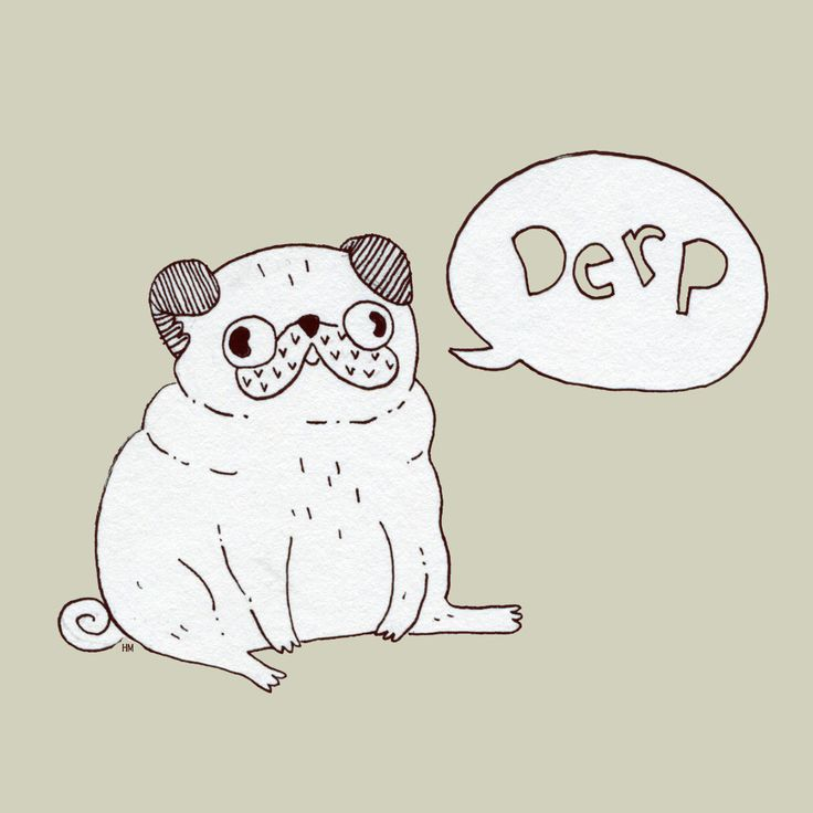 Drawn pug ashamed Best  pugs and Pug