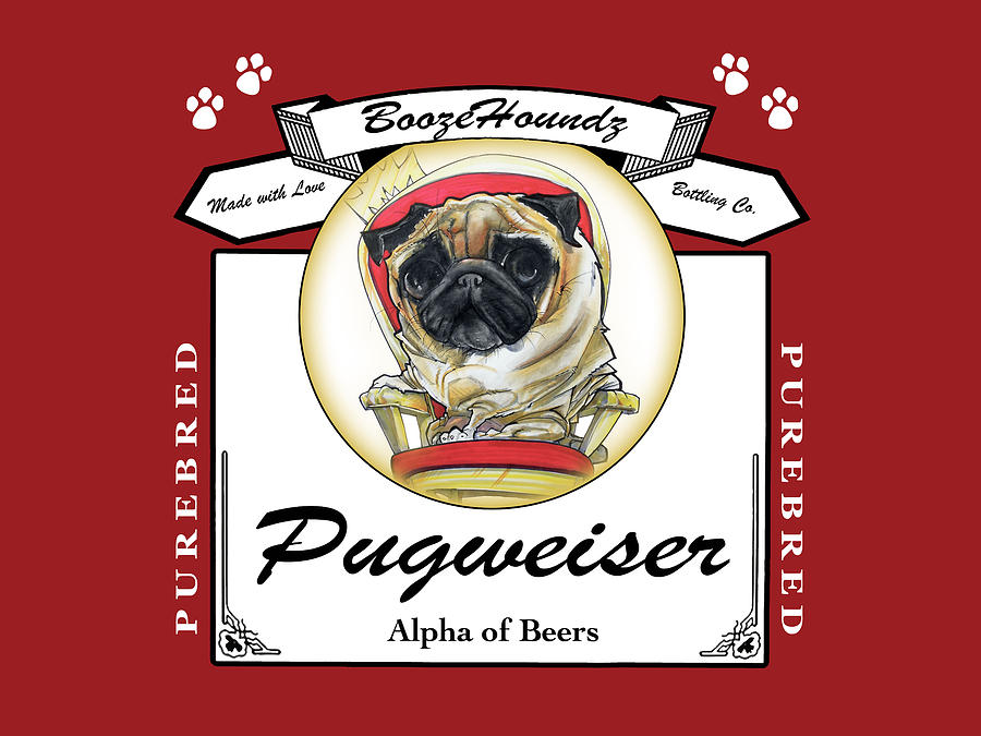 Drawn pug beer By Drawing John Pugweiser by