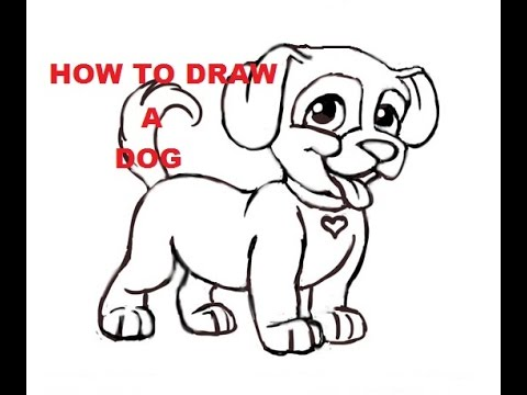 Drawn pug beginner Easy Kids Dogs for to
