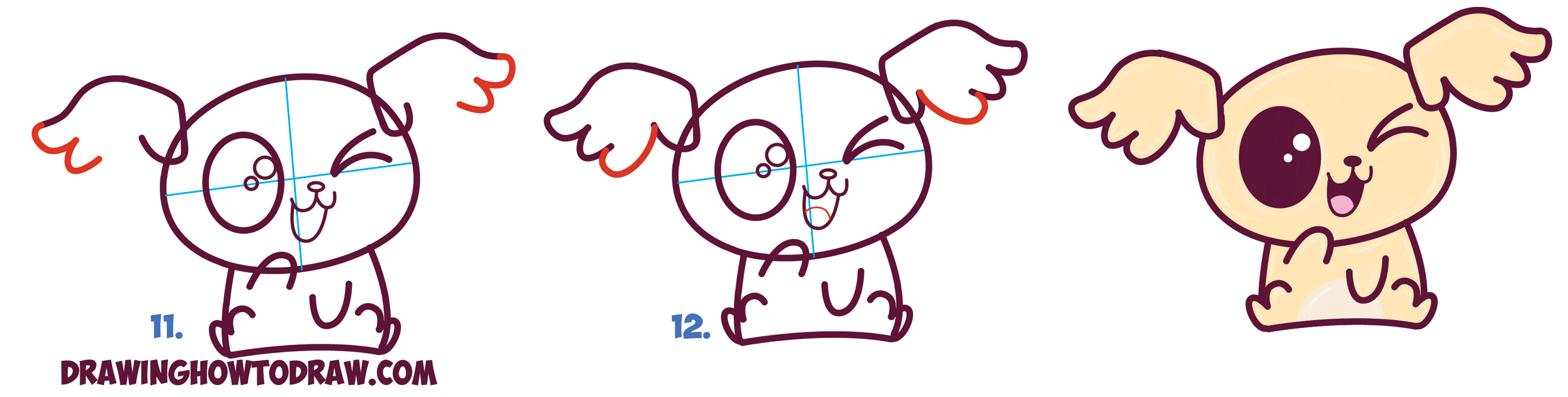 Drawn pug beginner With Chibi Step Simple /