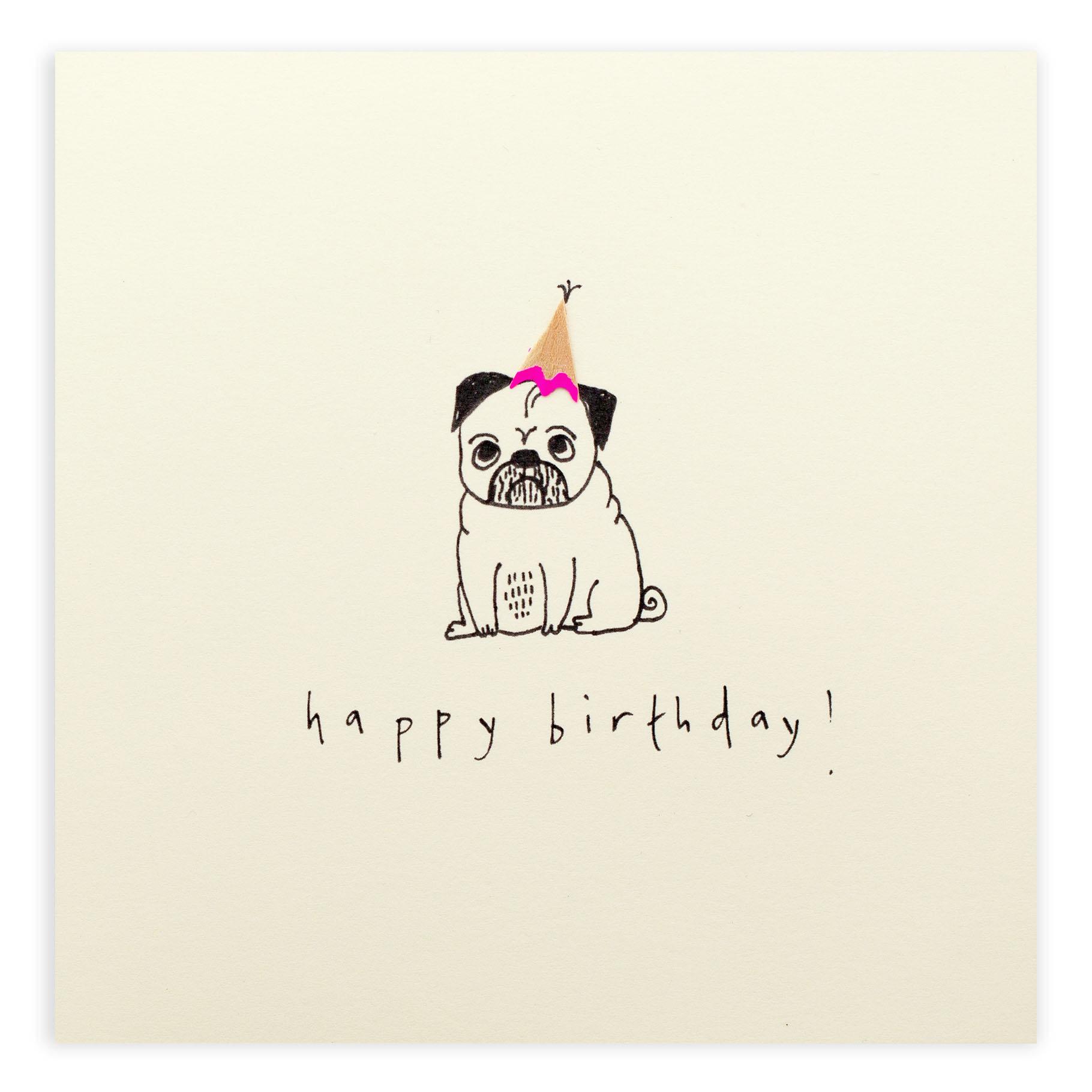 Drawn pug birthday card Like pug Happy Nothing Jackson