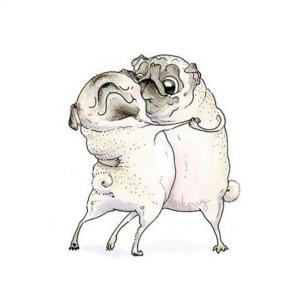 Drawn pug business Pug Artist DogSync two Main