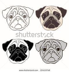Drawn pug cartoon Pug cartoon Search Drawing dog