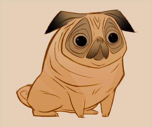 Drawn pug cartoon Blog/Website Alison by tumblr