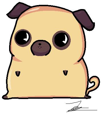 Drawn pug chibi By DeviantArt Pug Zsofipony Chibi