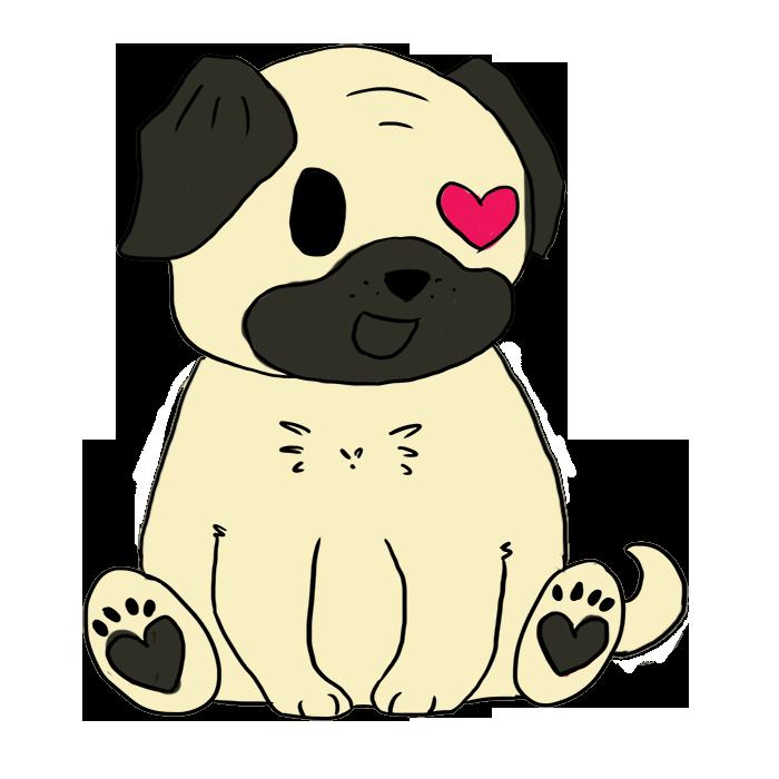 Drawn pug chibi Images Pug Reverse Filename: Chibi