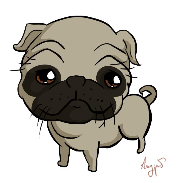 Drawn pug chibi Tutorial to pug draw how
