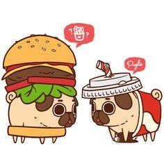 Drawn pug chibi Mmmmmm Pugs meatb Puglie Puglie?