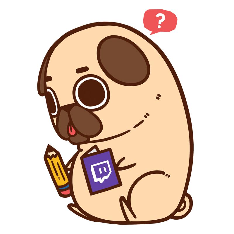 Drawn pug chibi Dibujos Tell What A