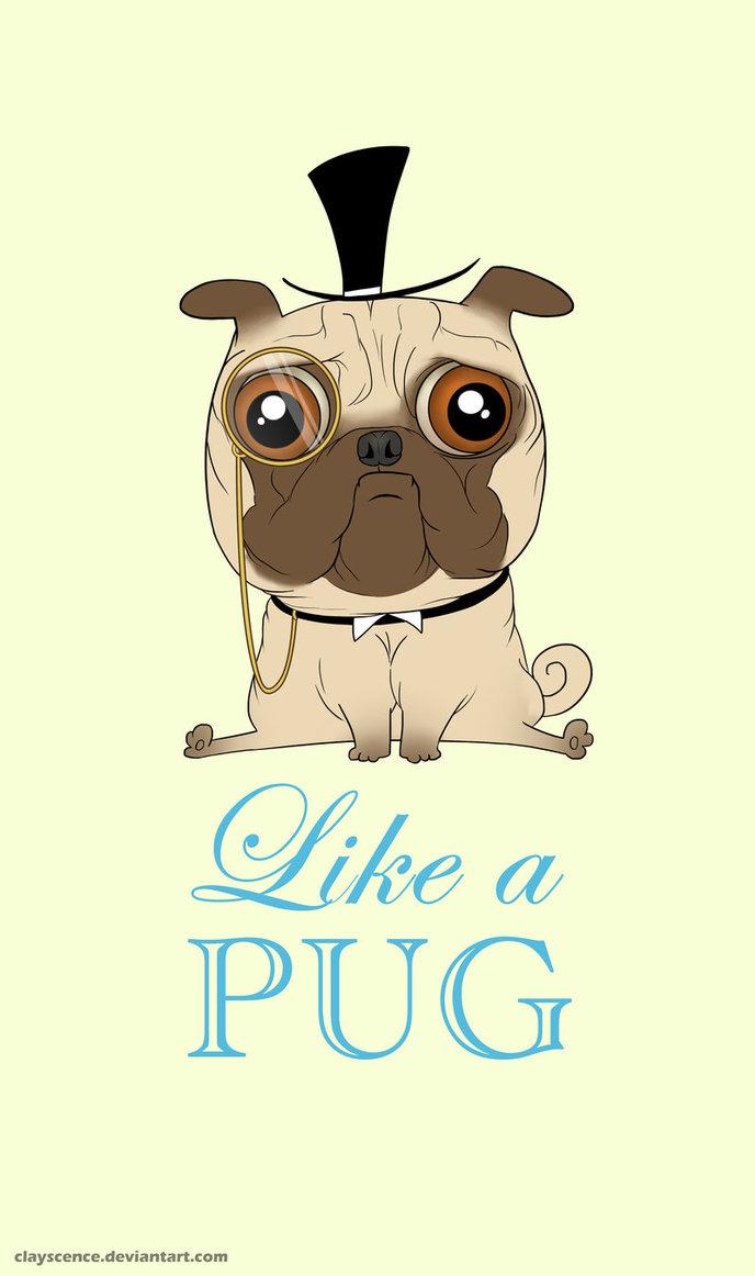 Drawn pug chibi A clayscence Like PUG Like