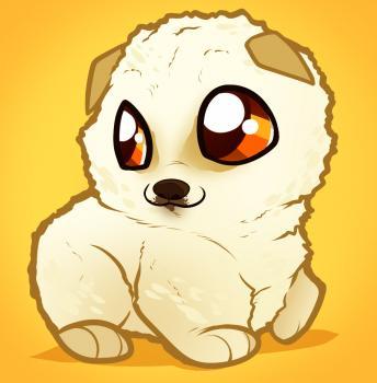 Drawn pug chibi Pomeranian puppy Pinterest to boxer