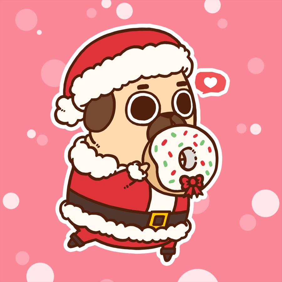 Drawn pug christmas ! my Actopan it en