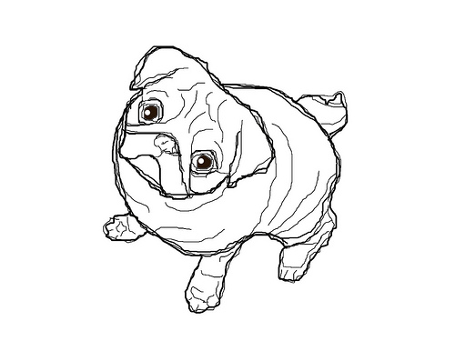Drawn pug coloring page Kids Pug For Coloring Pages