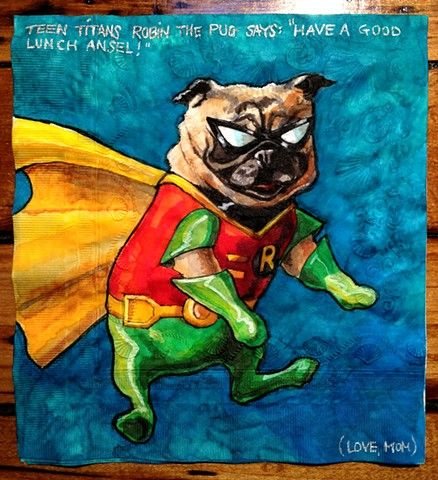 Drawn pug daily Pinterest Pug 900 images Piccolo