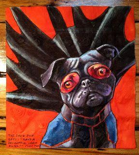 Drawn pug daily Levy Daily Napkin Artist Napkin