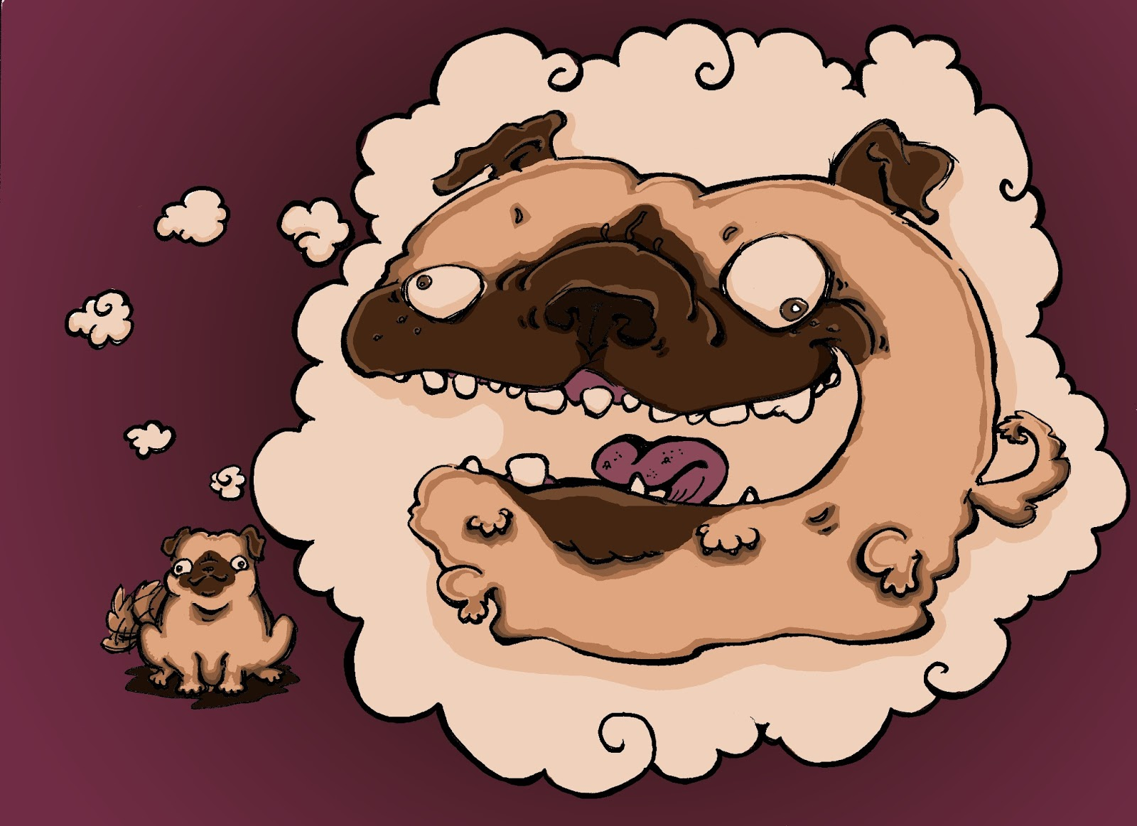 Drawn pug derpy The derpy with brown Tsunami