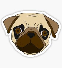 Drawn pug derpy Pug: Redbubble & Sticker Derpy