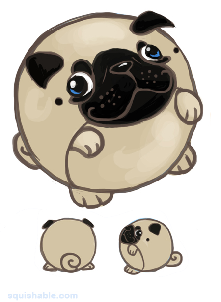 Drawn pug derpy Com: Adorable Pug Fuzzy Snurfle