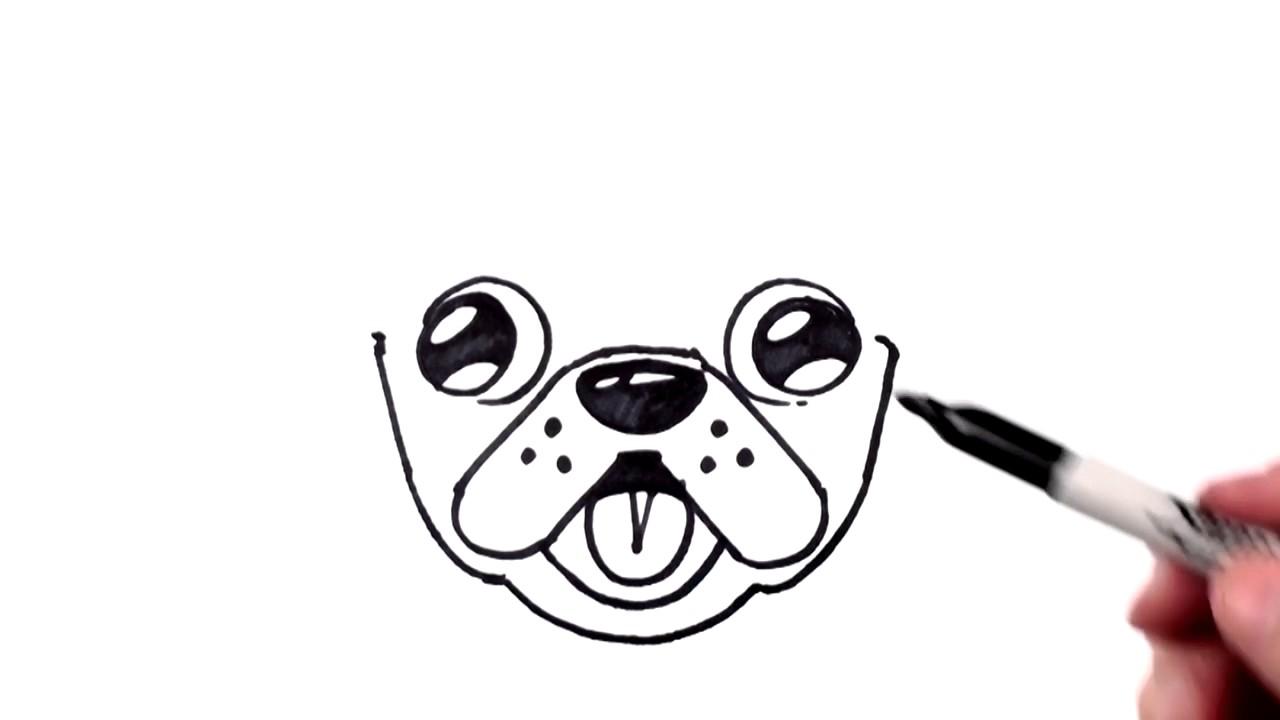 Drawn pug emoji Emoji Cute Beginners Draw Step