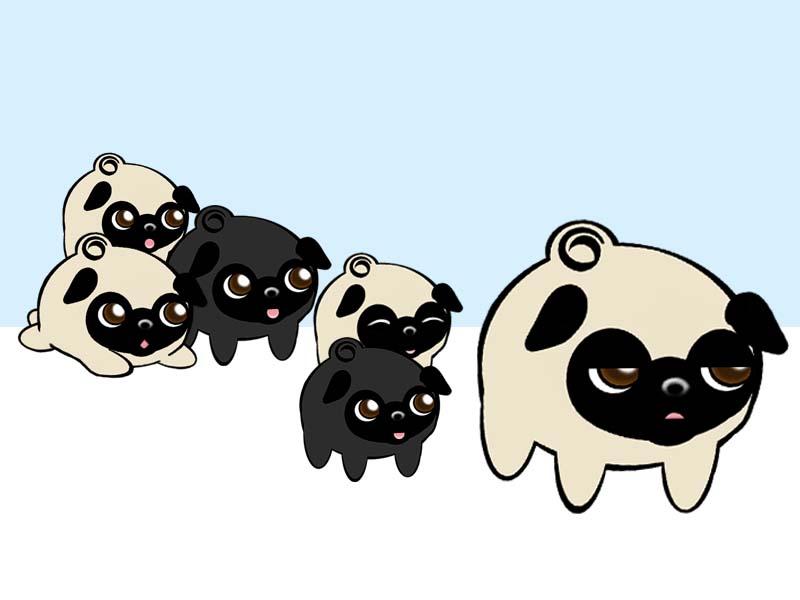 Drawn pug emoji By pug coconutpug pug daddy