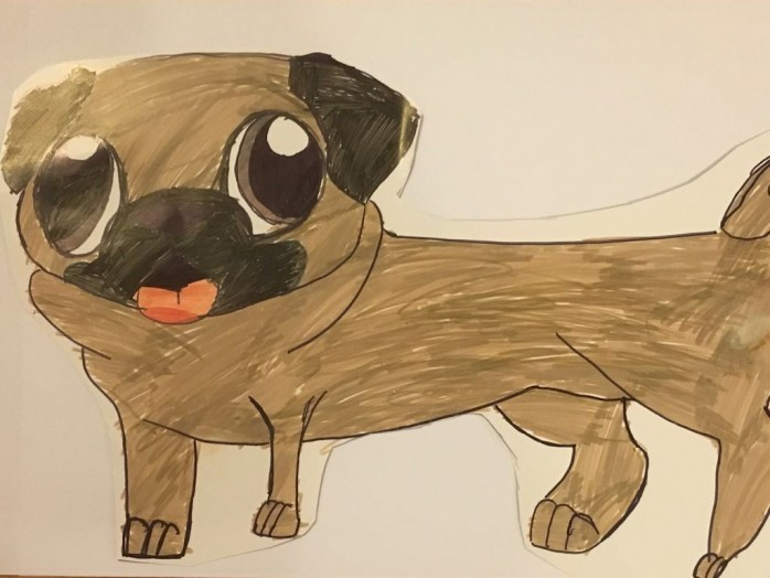 Drawn pug fabulous Of pug drawing Your a