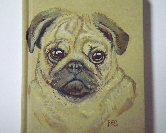 Drawn pug fabulous Journal strap book 8 Pug